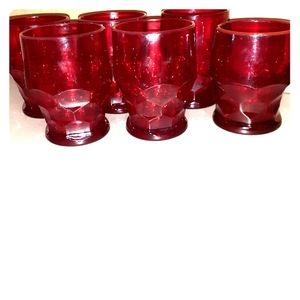Vintage Ruby Red Depression Glass